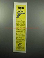 1989 Glock 17 and 19 Automatic Pistols Ad - Aiming For