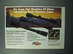 1989 Burris Signature Scopes Ad - Obsoletes Others