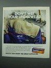 1989 Ziploc Storage Bags Ad - Don't Wet Underwear