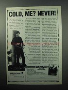1988 Damart Underwear Ad - Cold, Me? Never!