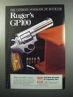 1988 Ruger GP100 Revolver Ad - The Ultimate