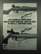 1988 Daisy Model 853 and 753 Rifles Ad - Match-Grade