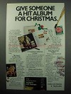 1988 U.S. Stamps Ad - Give A Hit Album For Christmas