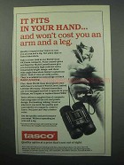 1988 Tasco Binoculars Ad - It Fits In Your Hand