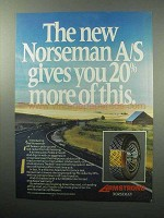 1987 Armstrong Norseman A/S Tire Ad - Gives You More