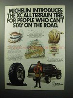 1987 Michelin XC All Terrain Tire Ad - Stay on the Road