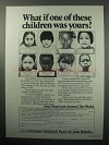 1987 Christian Children's Fund of Great Britain Ad