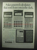 1987 Casio Calculator Ad - FX85M FX911M FX115M FX451M