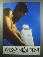 1987 Yves Saint Laurent Kouros Cologne Ad