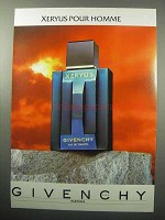 1987 Givenchy Xeryus Pour Homme Cologne Ad