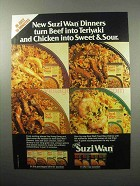 1987 Uncle Ben's Suzi Wan Dinners Ad