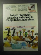 1987 Federal Steel Shot Shells Ad - Change Flight Plans
