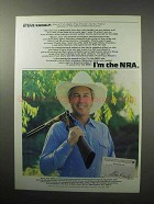 1987 National Rifle Association NRA Ad - Steve Kanaly