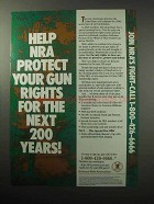 1987 National Rifle Association NRA Ad - Protect Rights