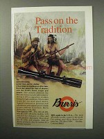 1987 Burris Scopes Ad - Pass on the Tradition