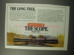 1987 Redfield Scope Ad - The Long Trek