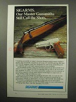 1987 Sigarms Sig Sauer P 226 Pistol, Sauer 90 Rifle Ad