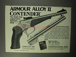 1987 Thompson / Center Arms Contender Pistol Ad