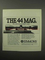 1987 Simmons Scopes Ad - The 44 Mag