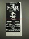 1987 The Name of the Rose Movie Ad