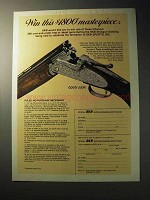 1977 SKB Shotgun Ad - Win This Masterpiece
