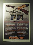 1977 Daisy Power Line 822 Rifle Ad - Squeeze off Shots