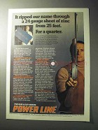 1977 Daisy Power Line 881 Rifle Ad - Ripped Our Name