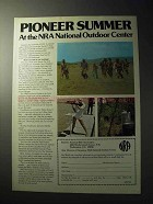 1977 National Rifle Association NRA Ad - Pioneer Summer