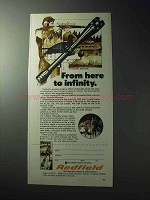 1977 Redfield Metallic Silhouette Scope Ad - Infinity
