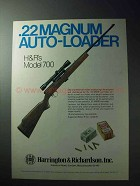 1977 Harrington & Richardson Model 700 Rifle Ad