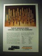 1977 Federal Cartridge Ad - Empty Centerfire Cases