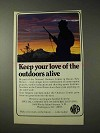 1977 National Rifle Association NRA Ad - Love Outdoors