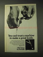 1977 Schrade Old Timer Gunstock Trapper Knife Ad