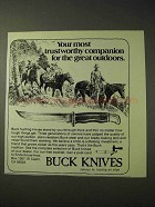 1977 Buck Knives Ad - Most Trustworthy Companion