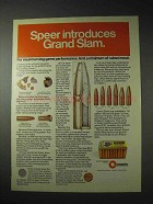 1976 Speer Grand Slam Bullets Ad!