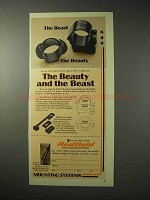 1976 Redfield Mounts Ad - Beauty and the Beast