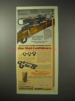 1976 Redfield Scopes Ad - One Shot Confidence
