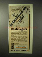 1976 Redfield Traditional Scope Advertisement - It Takes Guts