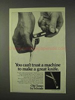1976 Schrade Old Timer Gunstock Trapper Knife Ad