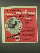 1976 Burris Fullfield Scope Ad - Revolutionary