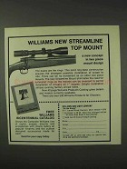1976 Williams Gun Sight Streamline Top Mount Ad