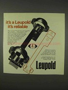 1976 Leupold STD Mount Ad - It's Reliable