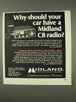 1976 Midland CB Radio Ad - Why Should Your Car Have?
