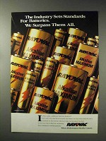 1993 Rayovac Batteries Ad - Industry Sets Standards