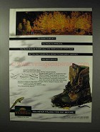 1993 Wolverine Wilderness Boots Ad - Pause to Reflect