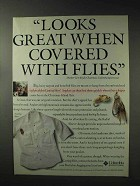 1993 Columbia Casting Shirt Ad - Covered With Flies