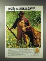1993 Carhartt Clothing Ad - Griz Horner Spent 25 Years