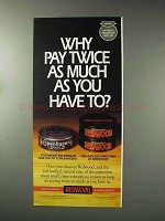 1993 Redwood Tobacco Ad - Why Pay Twice As Much?