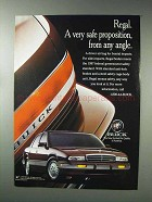1993 Buick Regal Sedan Ad - A Very Safe Proposition