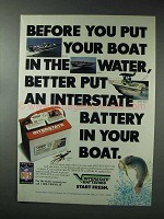 1993 Interstate Batteries Ad - Your Boat in the Water